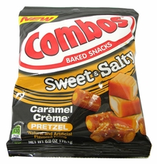 Combos Caramel Cream Pretzels 6oz Bag