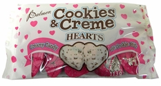 Cookies & Cream Chocolate Hearts 4oz