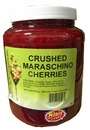 Crushed Maraschino Cherries 1/2 Gallon Jar