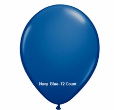 "Dark Blue Latex Balloons 11"" 72 Count"