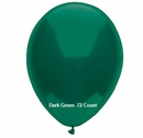"Dark Green Latex Balloons 11"" 72 Count Bag"