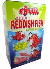 E. Fruitti Wrapped Sour Gummi Red Fish 240 Count