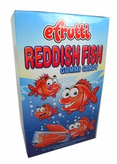 E. Frutti Reddish Gummi Fish 240 Count Wrapped