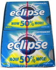 Eclipse Sugarless Gum 8ct - Peppermint