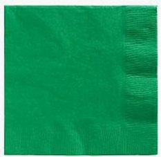 Emerald Green Lunch Napkins 50 Count 3 Ply