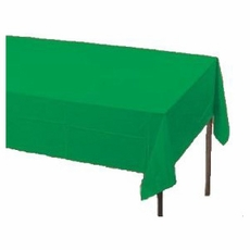 Emerald Green Plastic Tablecloth