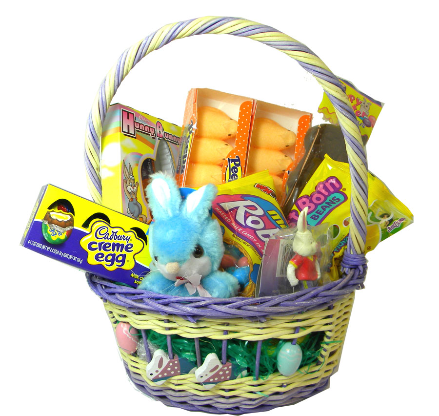 Filled Easter Candy Basket For Boys Blaircandy Com