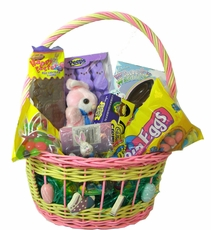 Filled Easter Candy Basket For Girls