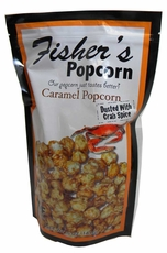 Fisher's Caramel Popcorn With Crab Seasoning 5oz Bag