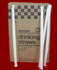Flexible Drinking Straws Wrapped 400ct