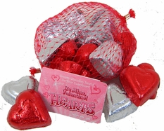 Foil Wrapped Chocolate Hearts Make For Romantic Candy Wedding Favors