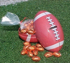 Football Bank Filled With Chocolate Footballs