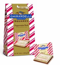 Ghirardelli Peppermint Bark Squares 7.06oz Bag