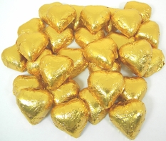 Gold Chocolate Hearts 2lb