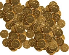 Gold Coins Chocolate Half Dollars 24lb Bulk