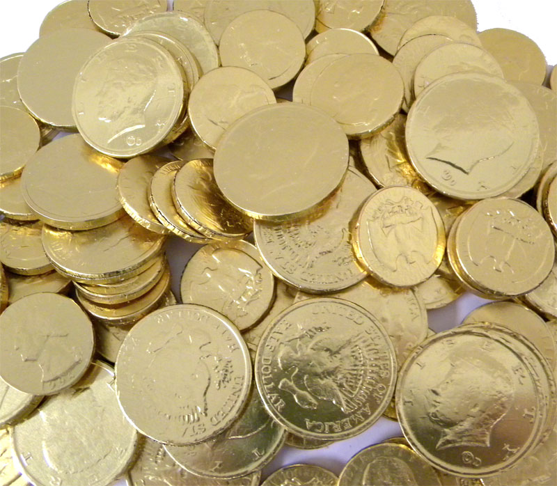 Much Gold Coins Gold Coins Chocolate Quarters