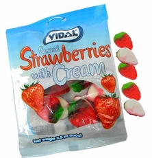 Gummi Strawberry & Cream Drops 3.5oz Bag