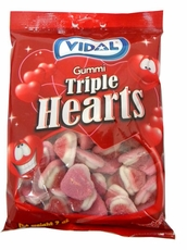 Gummi Triple Hearts 7oz Bag