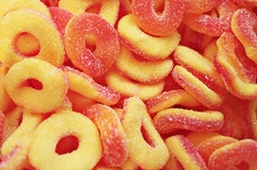 Gummy Peach Rings 5lb Trolli Brand