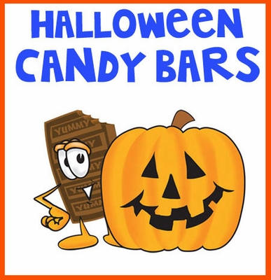 Halloween Candy Bar Selection