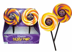 Halloween Swirl Dizzy Lollipops 12 Count