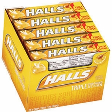 Halls Cough Drops Sticks 20ct - Honey/Lemon