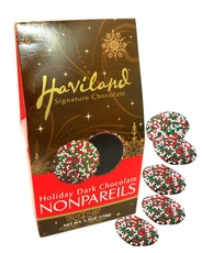 Haviland Christmas Dark Chocolate Nonpareils 5.5oz Bag