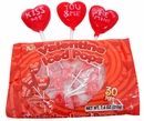 Heart Shaped Lollipops 30 Count  By Alberts