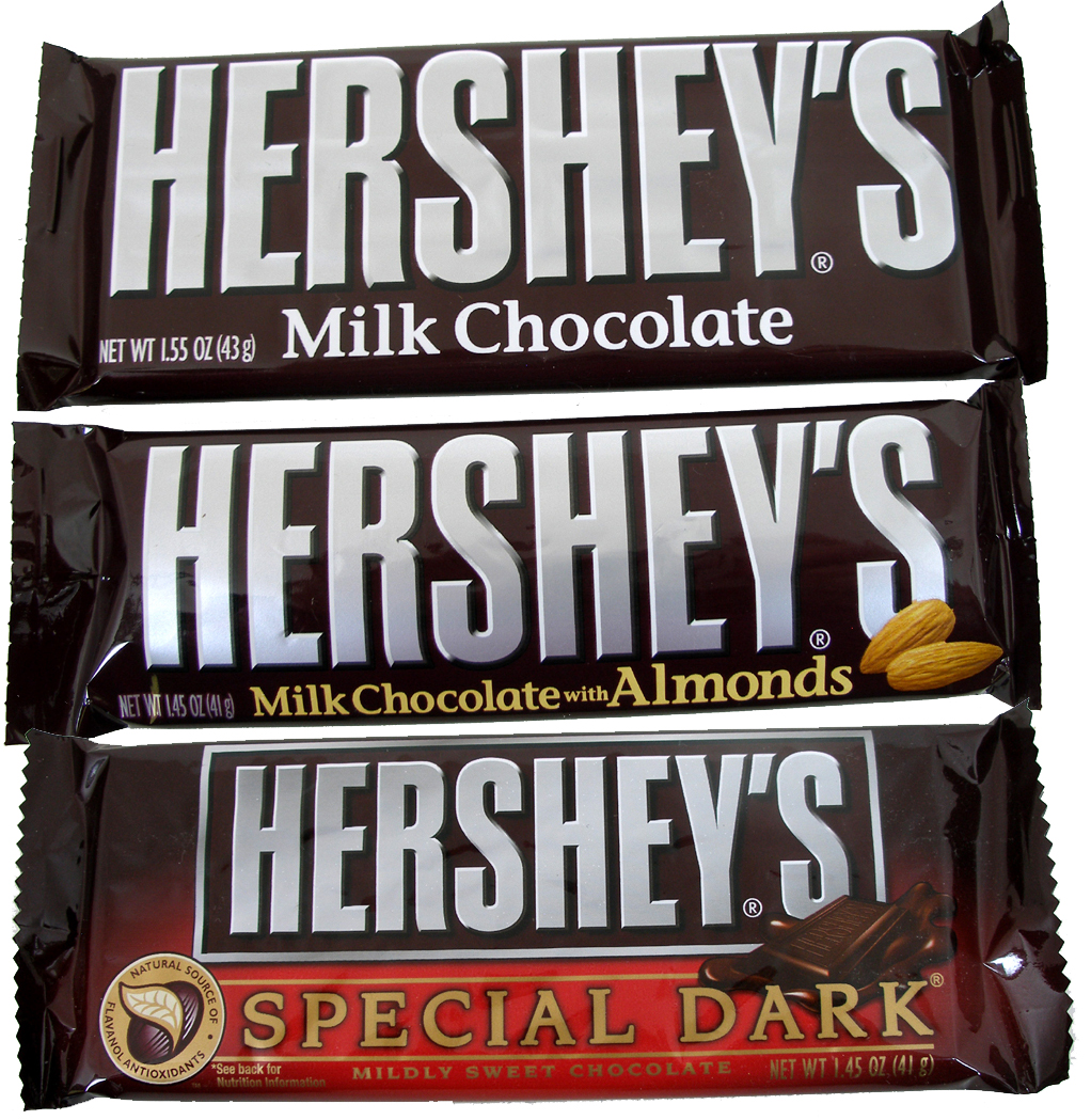 Hershey's Candy Bar 36 Count Box (Pick- Plain, Almond or ...