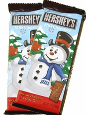 Hershey's Holiday Design Bar Snowman Milk Chocolate 3.5oz (One Bar)