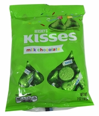 Hershey's Kisses Green Foil 7oz Bag
