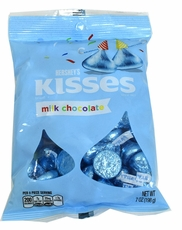 Hershey's Kisses Lite Blue Foil 7oz Bag