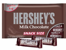 Hershey's Milk Chocolate Bars Snack Size 45 Count (Jumbo Bag)
