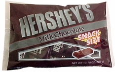 Hershey's Milk Chocolate Snack Size Candy Bars 10.78oz Bag (24ct)