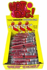 Hot Dog  Cinnamon Bubble Gum 72ct