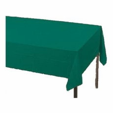Hunter Green Plastic Tablecloth