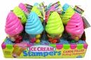 Ice Cream Toy & Candy With Stamper 12 Count