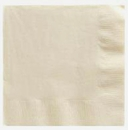 Ivory Beverage Napkins 3 Ply - 50 Count