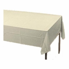 Ivory Paper Tablecloth (Plastic lined)