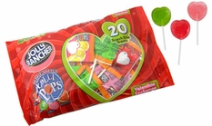 Jolly Rancher Heart Shaped Valentine's Lollipops 20ct