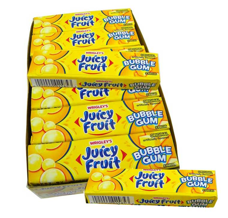 Juicy Fruit Flavor Juicy Fruit Bubble Gum