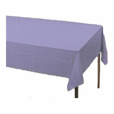 Lavender Paper Tablecloth (Plastic lined)