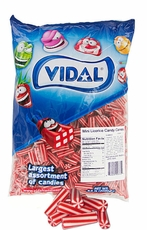 Licorice Mini Strawberry Candy Cane Poles 4.4lb Bag