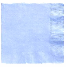 Pastel Blue Beverage Napkins 3 Ply - 50 Count