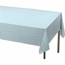Pastel Blue Plastic Tablecloth