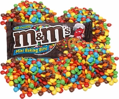 M&M Mini Baking Bits 4lb Bag