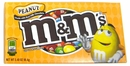 M&M Peanut Candy 3.4oz Theater Size Box