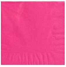Magenta Beverage Napkins 3 Ply - 50 Count