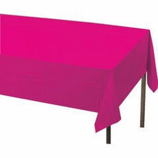 Magenta  Paper Tablecloth (Plastic lined)