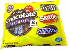 Mars Chocolate Fun Size Favorites 100 Count Yellow Bag